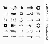 flat arrows set isolated on... | Shutterstock .eps vector #1321273055