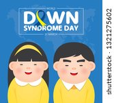 world down syndrome day on 21... | Shutterstock .eps vector #1321275602