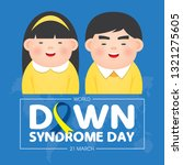 world down syndrome day on 21... | Shutterstock .eps vector #1321275605