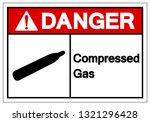 danger compressed gas symbol... | Shutterstock .eps vector #1321296428