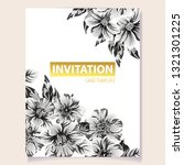 invitation greeting card with... | Shutterstock .eps vector #1321301225