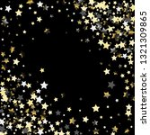 stars confetti diagonal border. ... | Shutterstock .eps vector #1321309865
