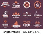 vintage retro vector logo for... | Shutterstock .eps vector #1321347578
