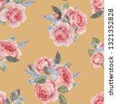 watercolor floral pattern ... | Shutterstock . vector #1321352828