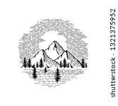 mountain vintage emblem. vector ... | Shutterstock .eps vector #1321375952
