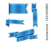 set of blue ribbons baner icon... | Shutterstock .eps vector #1321403882