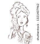 vector sketchy illustration of... | Shutterstock .eps vector #1321407962