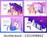 set template design  isometric... | Shutterstock .eps vector #1321408862