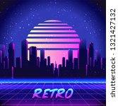 retro futurism. vector... | Shutterstock .eps vector #1321427132