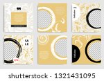 editable set of square abstract ... | Shutterstock .eps vector #1321431095