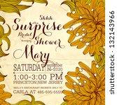 vintage floral printable...   Shutterstock .eps vector #132143966
