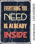 everything you need is already... | Shutterstock .eps vector #1321450835