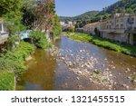scenery around vals les bains ... | Shutterstock . vector #1321455515