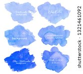 blue abstract watercolor... | Shutterstock .eps vector #1321461092