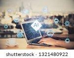 ai  artificial intelligence ... | Shutterstock . vector #1321480922