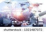 business people shaking hands ...   Shutterstock . vector #1321487072