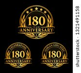 180 years anniversary set.... | Shutterstock .eps vector #1321491158