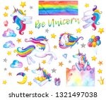 be unicorn collection of... | Shutterstock . vector #1321497038