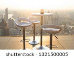 sky bar rooftop with view city... | Shutterstock . vector #1321500005