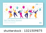 concept of landing page with... | Shutterstock .eps vector #1321509875