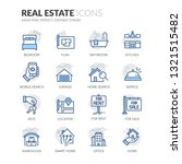 simple set of real estate... | Shutterstock .eps vector #1321515482
