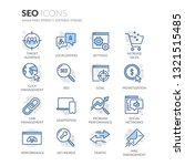 simple set of seo related... | Shutterstock .eps vector #1321515485