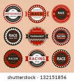 racing insignia   vintage style ... | Shutterstock .eps vector #132151856