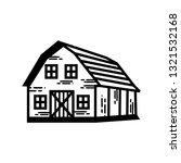 farm barn vector black   white | Shutterstock .eps vector #1321532168