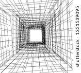 conceptual architecture 3d  | Shutterstock .eps vector #1321539095