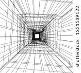 conceptual architecture 3d  | Shutterstock .eps vector #1321539122