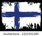 flag of finland  | Shutterstock . vector #1321541285