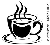 silhouette of a cup of coffee... | Shutterstock .eps vector #1321544885