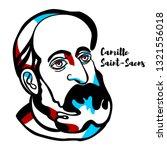 camille saint saens engraved... | Shutterstock .eps vector #1321556018