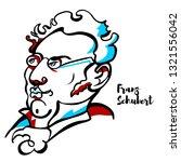 franz schubert engraved vector... | Shutterstock .eps vector #1321556042