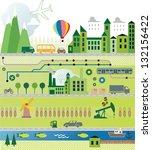 cartoon map city seamless... | Shutterstock .eps vector #132156422