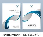 blue corporate identity cover... | Shutterstock .eps vector #1321569512