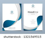 blue corporate identity cover... | Shutterstock .eps vector #1321569515