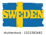 flag of sweden. design element. ... | Shutterstock . vector #1321582682