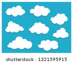 white clouds on blue sky mockup ... | Shutterstock .eps vector #1321595915