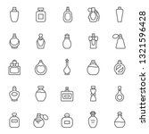 Perfume Bottles  Icon Set. Eau...