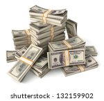 Stack Of Dollars. Conceptual...