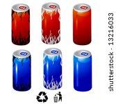 energy drink cans vector | Shutterstock .eps vector #13216033