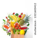 healthy food selection.... | Shutterstock . vector #1321603412