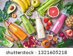 colorful freshly squeezed... | Shutterstock . vector #1321605218