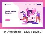 social media landing page for...   Shutterstock .eps vector #1321615262