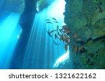 sunbeam in the sea  rota ... | Shutterstock . vector #1321622162