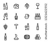 wine signs black thin line icon ... | Shutterstock .eps vector #1321622552