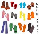 cartoon color woolen mittens... | Shutterstock .eps vector #1321622555