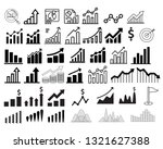 graph and diagram icons set....