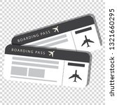 two boarding pass isolated on... | Shutterstock .eps vector #1321660295